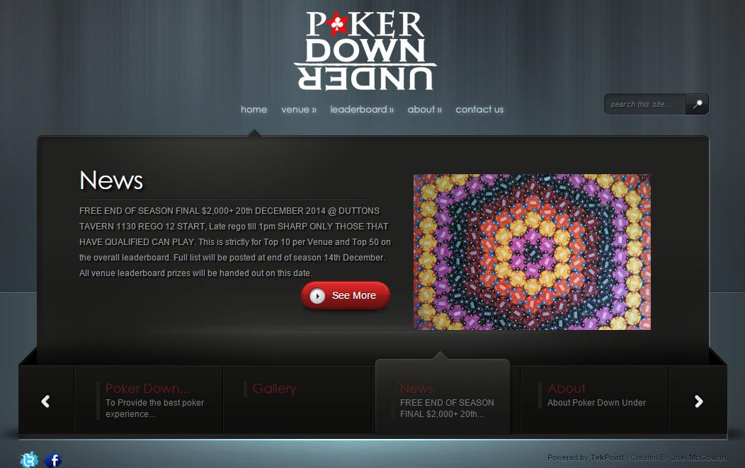 Poker Down Under Website